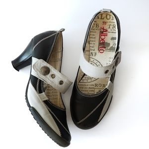 Alberto | Mary Jane Velcro Strap Heel